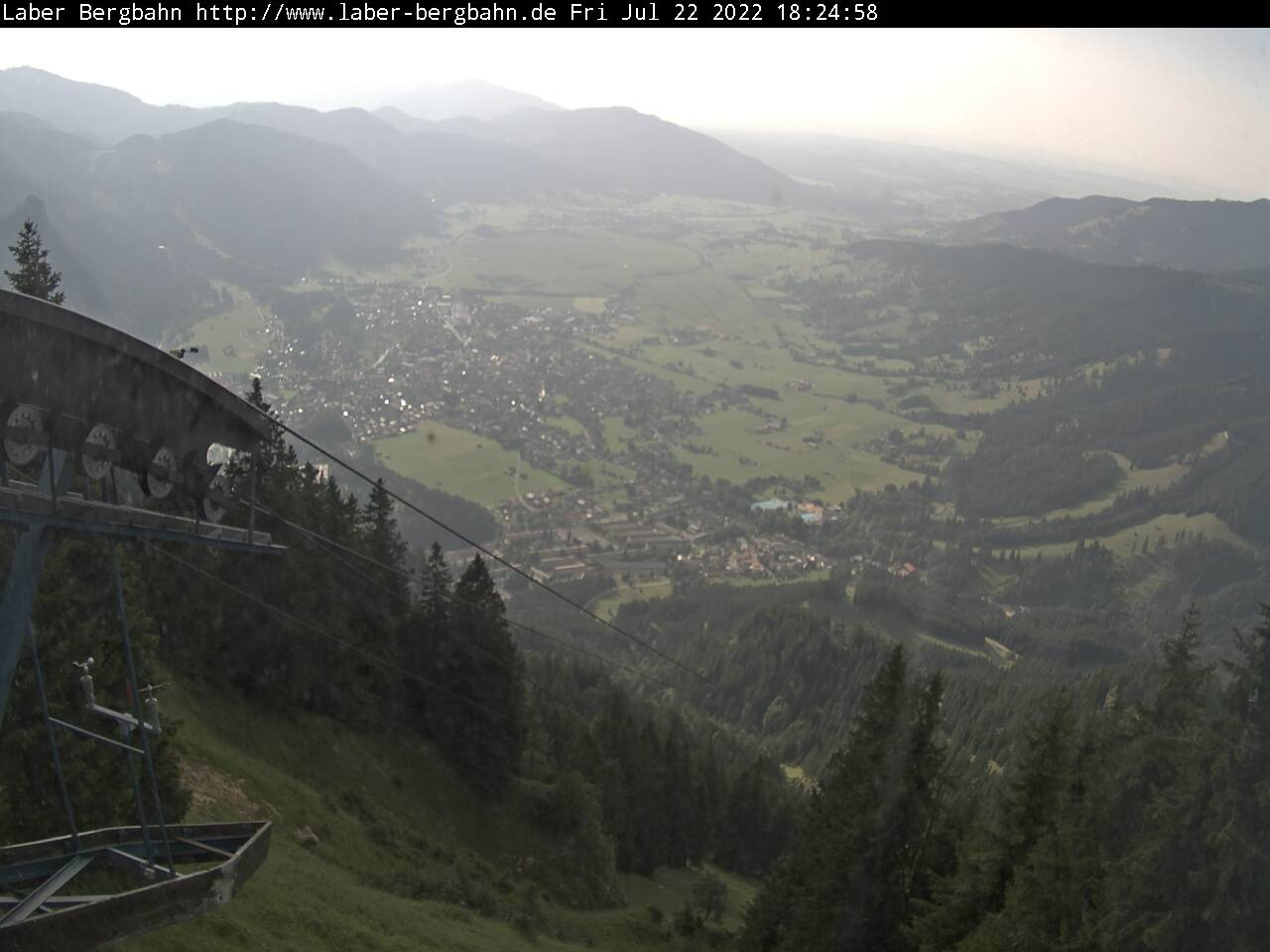 Webcam Skigebied Oberammergau - Laber nach Norden - Alpen Oberbayern